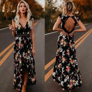Dresses & Skirts - Preview! Chelsea Summer Floral Open Back Dress